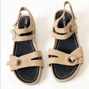 Abeo Greta Tan Ankle Strap Walking Sandals